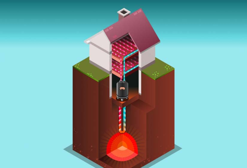 casa con geotermia